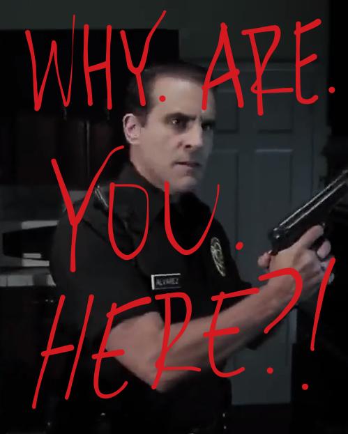 Officer Alvarez enters house