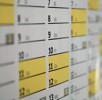 Image of a wall calendar