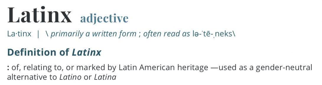 Latinx definition from Merriam-Webster dictionary