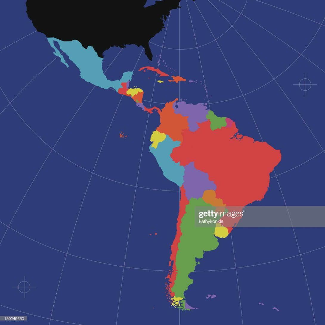 The highlighted portions are Latin American countries