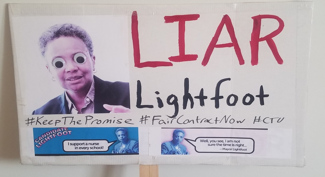 a poster of Major Lightfoot with googly eyes captioned