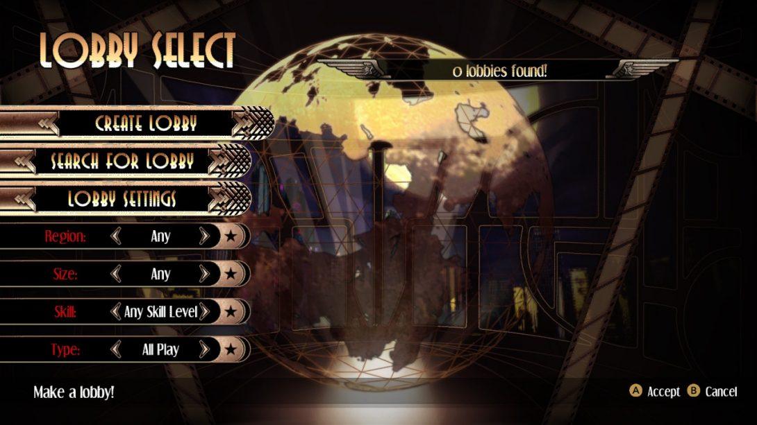 Online Lobby in Skullgirls