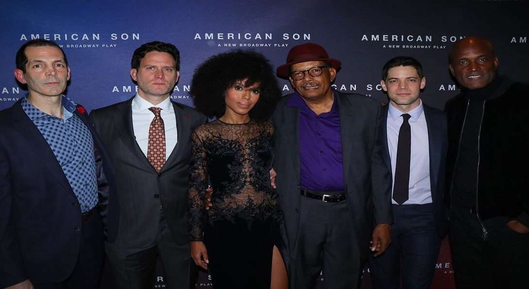 From left to right: Christopher Demos-Brown, Steven Pasquale, Kerry Washington, Eugene Lee, and Jeremy Jordan.