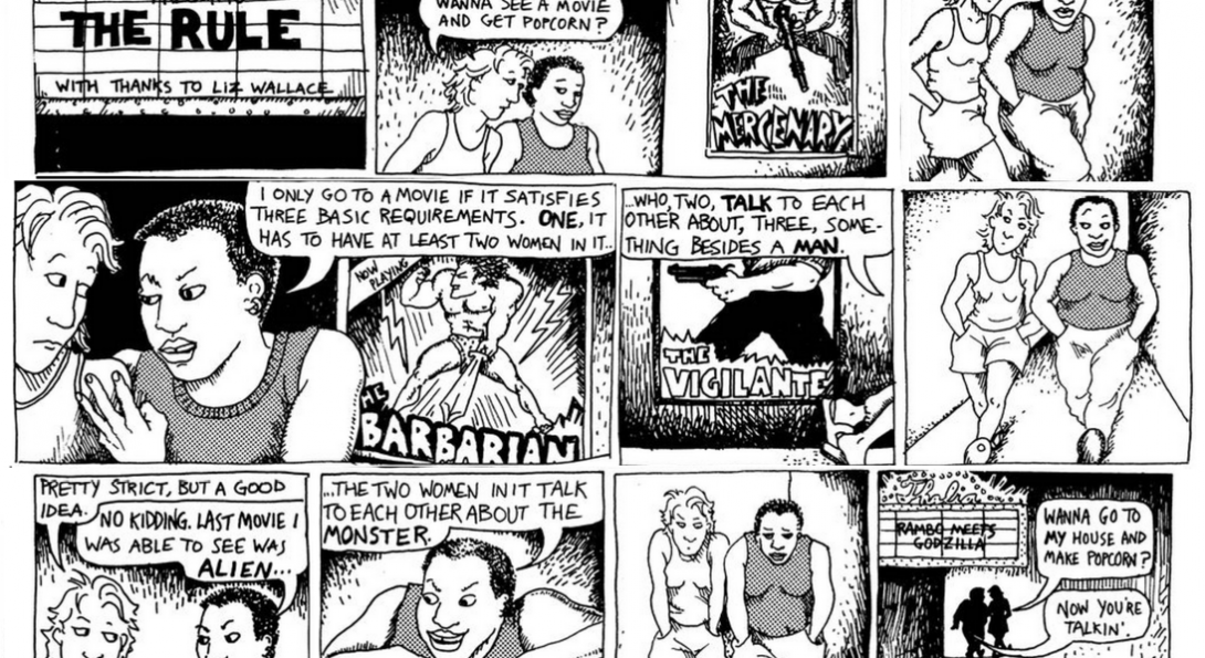 a comic explaining the Bechdel Test
