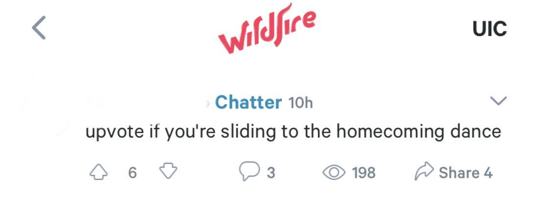 Screenshot from Wildfire App