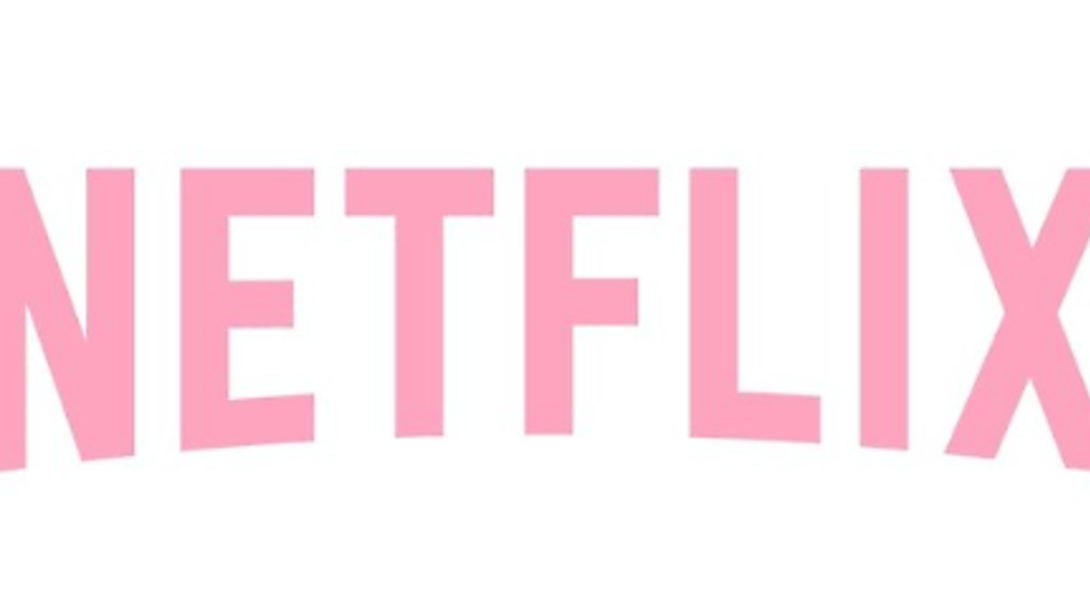 the Netflix logo but in pink